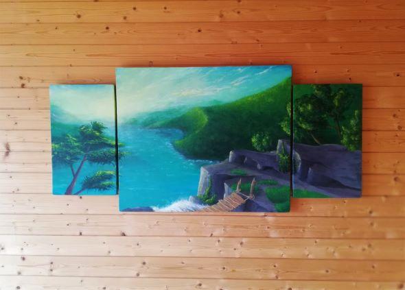 Malerei Acrylmalerei Landschaft