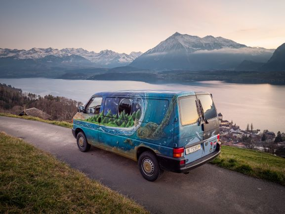 vw busproject campervan graffiti